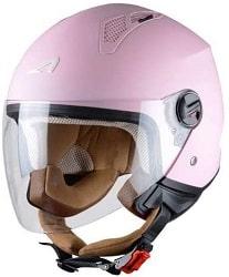 Astone Helmets - MINIJET monocolor - Casque jet - Casque jet urbain - Casque moto et scooter compact - Coque en polycarbonate - Flamingo XS.-min