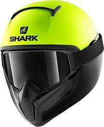 SHARK NC Casco per Moto, Hombre, Amarillo, M