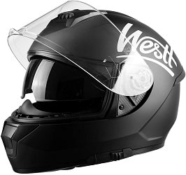 Westt Storm X Casco de Moto Integral con Doble Visera - Negro Mate Certificado ECE.-min